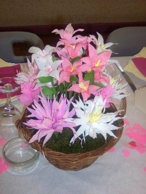 Fleurs en papier cr pon blog de vahine nath - Activite avec papier crepon ...